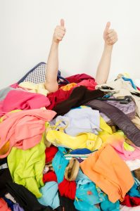 pile of clutter and clothes