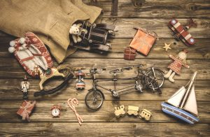 Vintage steel toys and decorations