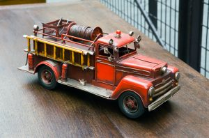 Old toy fire engine