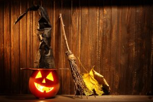 pumpkin and halloween decorations