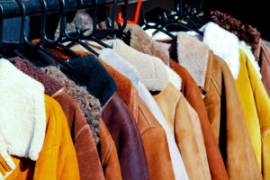 Rack of winter coats